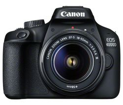EOS 4000D DSLR Camera with EF-S 18-55 mm f/3.5-5.6 III Lens