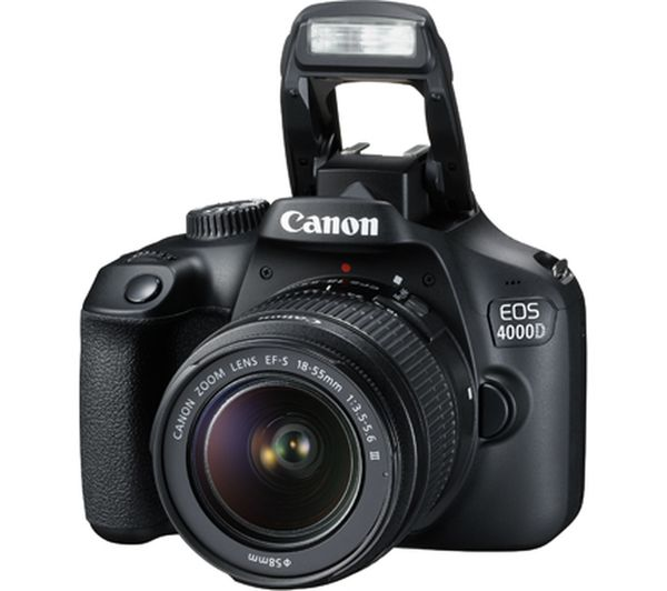 Buy CANON EOS 4000D DSLR Camera with EF-S 18-55 mm f/3.5-5 ...