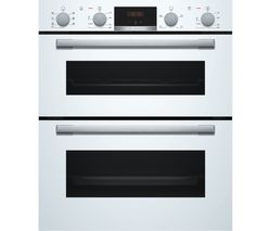 Serie 4 NBS533BW0B Electric Built-under Double Oven - White