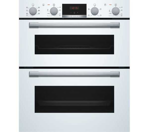 Image of BOSCH Serie 4 NBS533BW0B Electric Built-under Double Oven - White