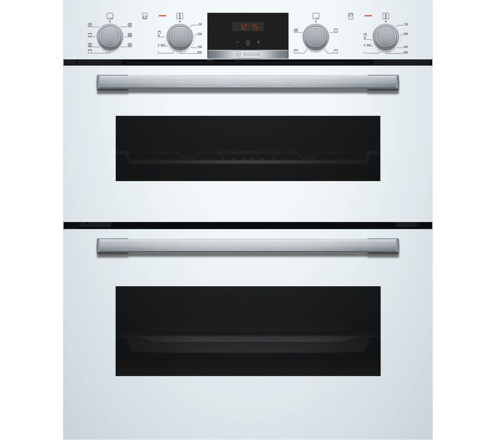 BOSCH NBS533BW0B Electric Built-under Double Oven - White