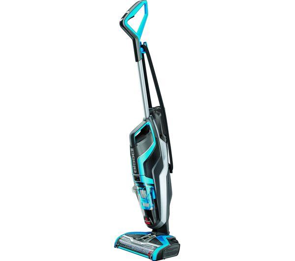 Image of BISSELL CrossWave Upright Wet & Dry Vacuum Cleaner - Titanium & Blue