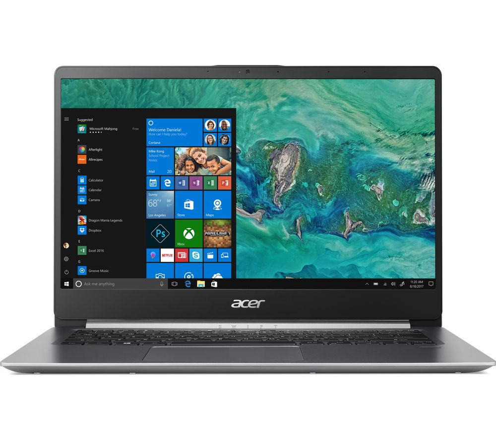 "Image of ACER Swift 1 SF114-32 14"" Intel® Pentium Laptop - 128 GB SSD, Silver, Silver"