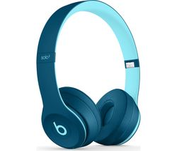 BEATS Solo 3 Wireless Bluetooth Headphones - Pop Blue