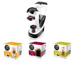 DOLCE GUSTO by De'Longhi Infinissima EDG260.W Coffee Machine & Pods Bundle - Macchiato, Americano & Cappuccino