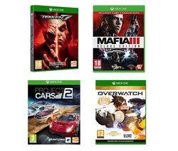 XBOX ONE Overwatch, Mafia III, Project Cars 2 & Tekken 7 Bundle