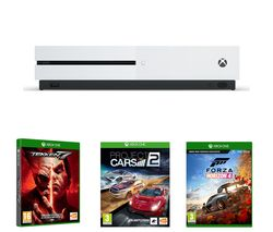 MICROSOFT Xbox One S, Forza Horizon 4, Tekken 7 & Project Cars 2 Bundle