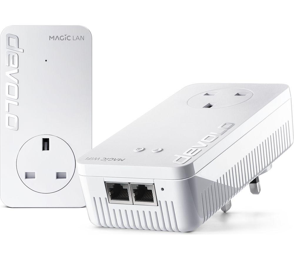 DEVOLO 8385 Magic 2 WiFi Powerline Adapter Kit - Twin Pack