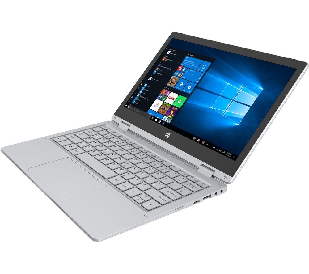 "GEO Flex 11.6"" Intel® Celeron® 2 in 1 Laptop - 64 GB eMMC, Silver"