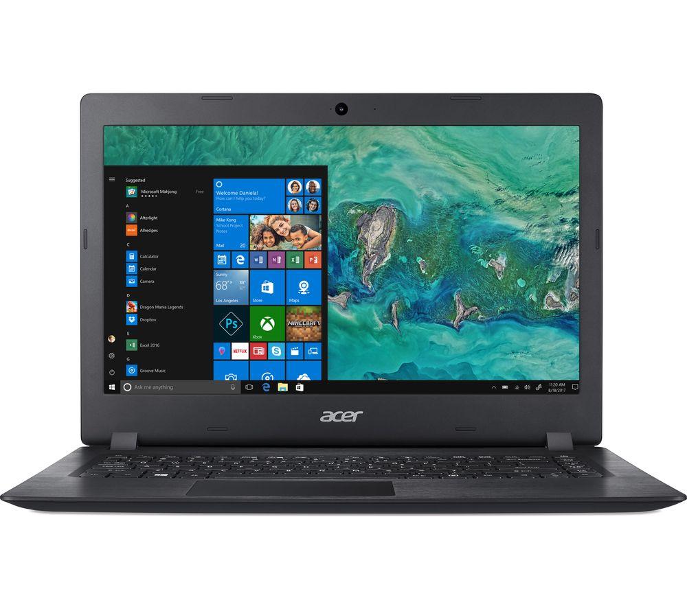 ACER Aspire 1 A114-32 14 inch Intel® Celeron Laptop - 64 GB eMMC, Black