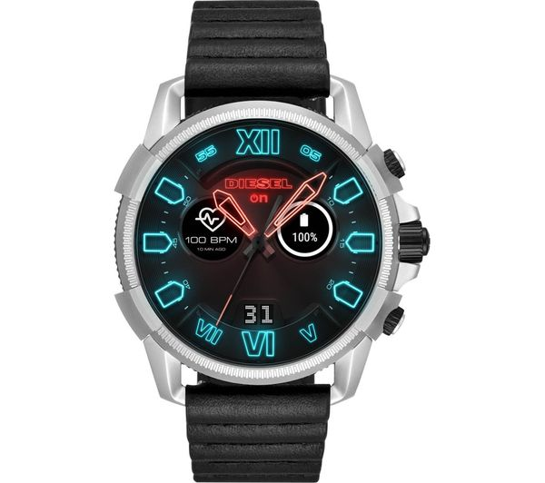 Image of DIESEL Full Guard 2.5 DZT2008 Smartwatch - Black, Leather Strap