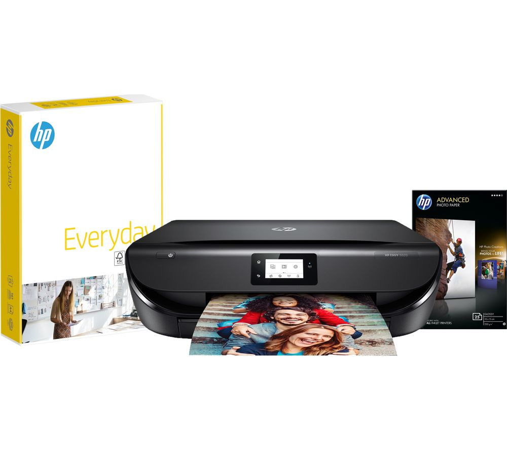 HP ENVY 5020 Wireless All-in-One Printer & Paper Grab and Go Bundle