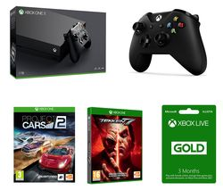 MICROSOFT Xbox One X, Tekken 7, Project Cars 2, Wireless Controller & LIVE Gold Membership Bundle
