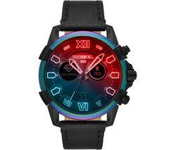 Full Guard 2.5 DZT2013 Smartwatch - Black, Leather Strap