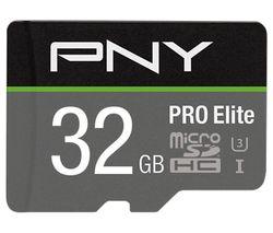 Image of PNY Pro Elite Class 10 microSDHC Memory Card - 32 GB