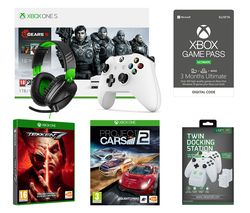 MICROSOFT Xbox One S Gears 5 Special Edition, Tekken 7, Project Cars 2, Wireless Controller, Gaming Headset, Docking Station & Game Pass Bundle