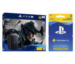 SONY PlayStation 4 Pro with Call of Duty: Modern Warfare & PlayStation Plus 3 Month Subscription Bundle