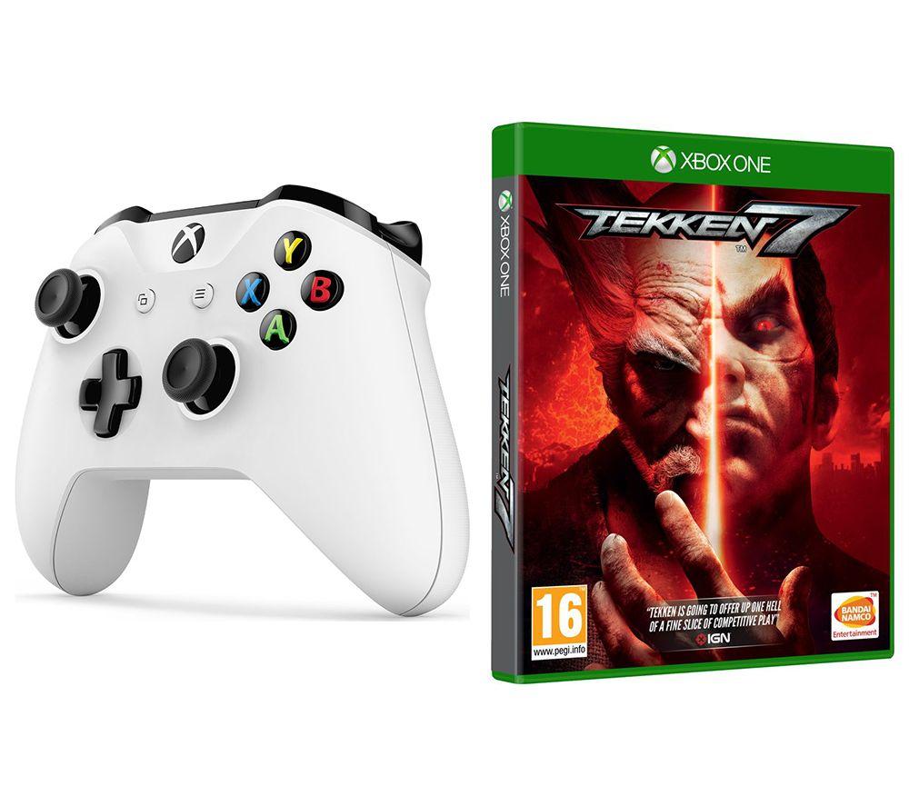 MICROSOFT Xbox One Wireless Controller & Tekken 7 Bundle - White