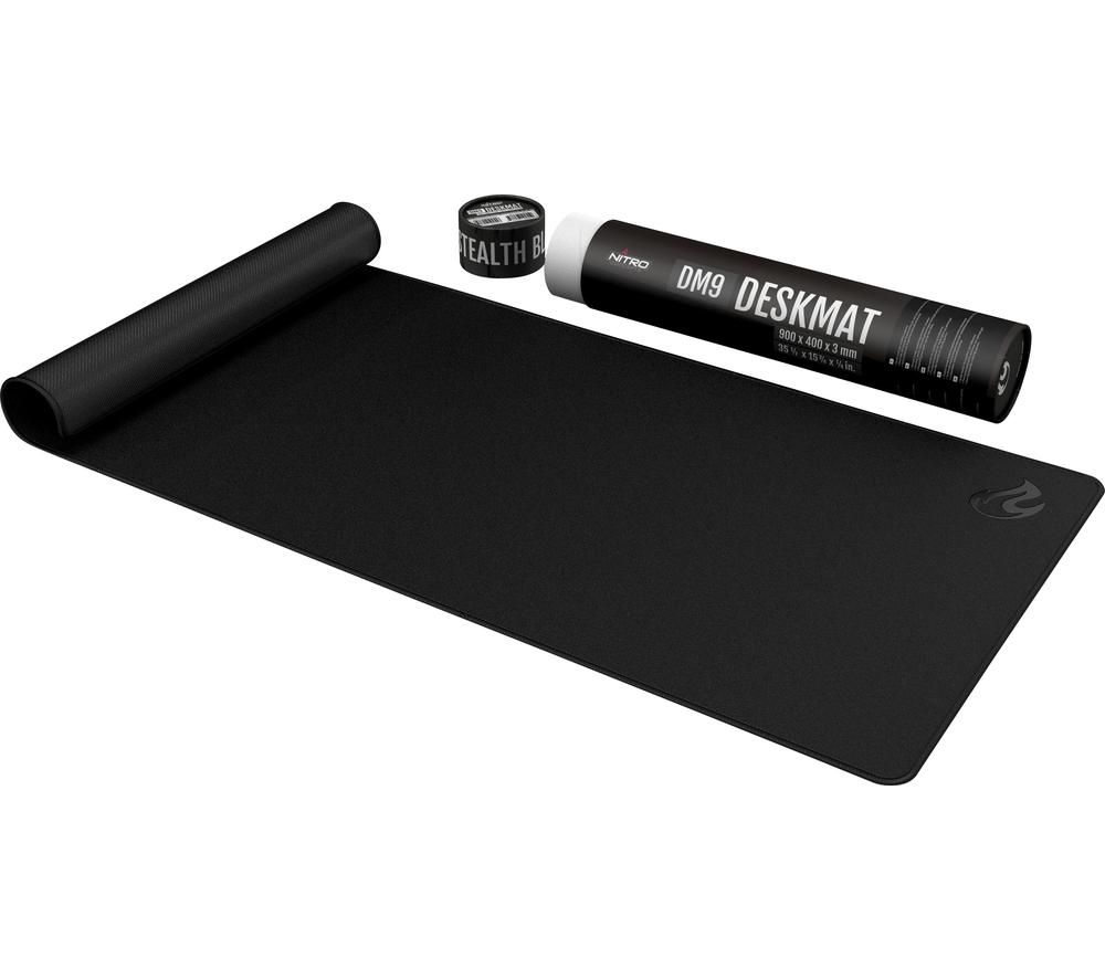 Image of Nitro Concepts Desk Mat 900 x 400mm - Black