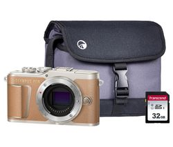 PEN E-PL9 Mirrorless Camera with 32 GB SD Card & Case - Brown, Body Only