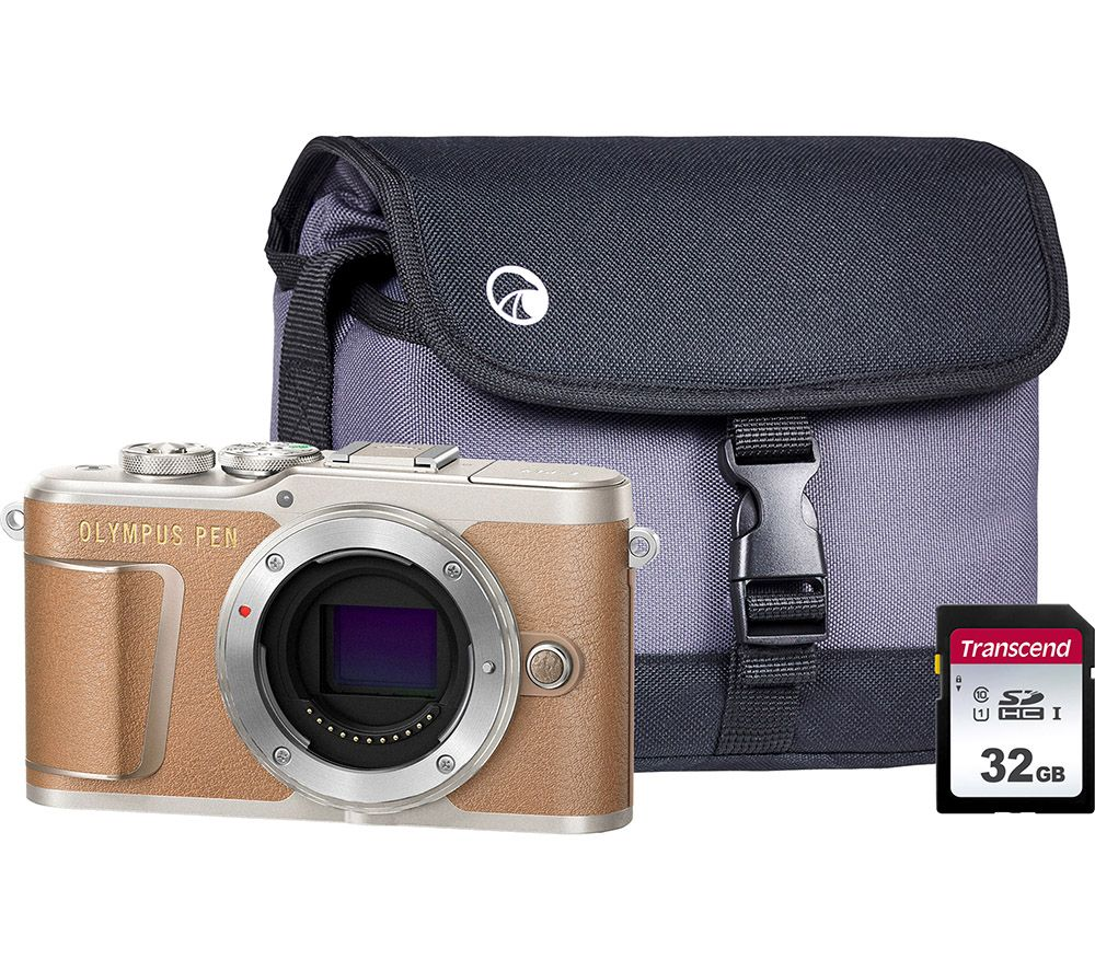 Image of OLYMPUS PEN E-PL9 Mirrorless Camera with 32 GB SD Card & Case - Brown, Body Only, Brown
