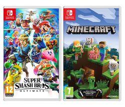 Super Smash Bros. Ultimate & Minecraft Bundle
