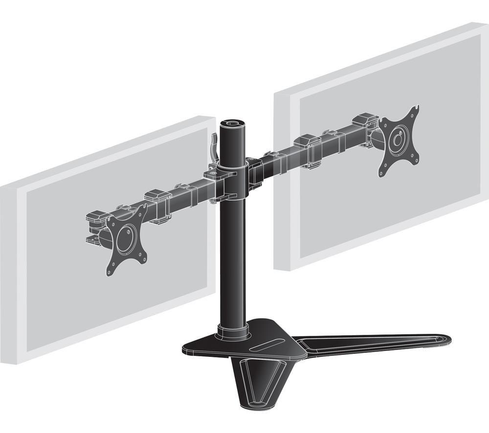 Image of IIYAMA DS1002D-B1 Dual Monitor Stand - Black, Black