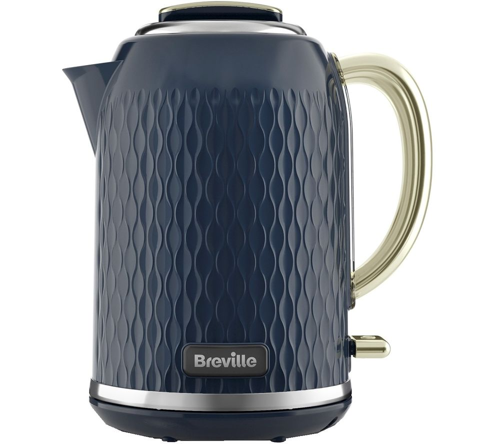 Image of BREVILLE Curve VKT171 Jug Kettle - Gold & Navy Blue, Gold