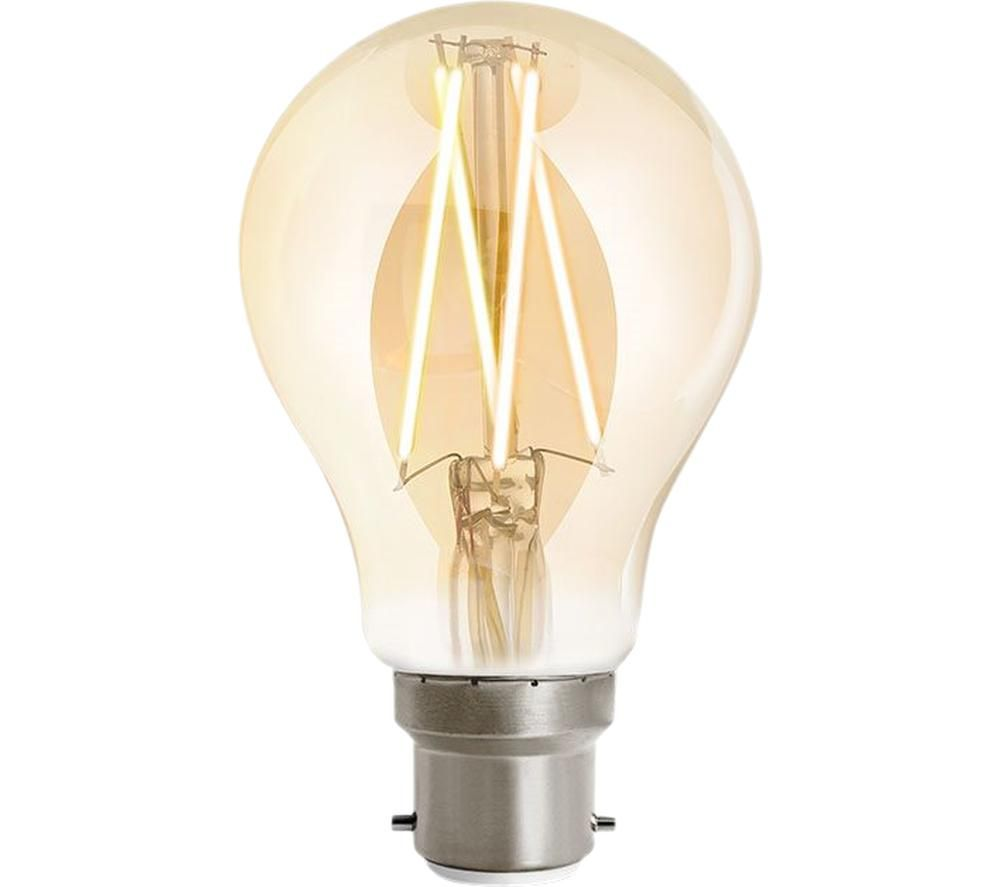 WIZ CONNECTED Whites Filament Dimmable Smart LED Light Bulb - B22, White