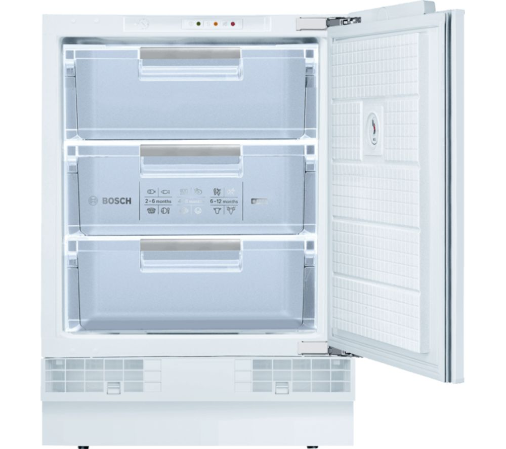 BOSCH GUD15AFF0G Integrated Undercounter Freezer - Fixed Hinge