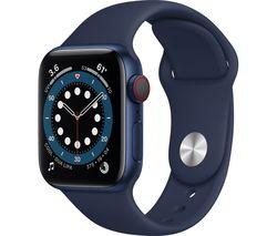 Watch Series 6 Cellular - Blue Aluminium with Deep Navy Sports Band, 40 mm