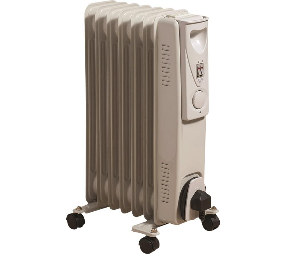 DAEWOO HEA1130 Portable Oil-Filled Radiator - White