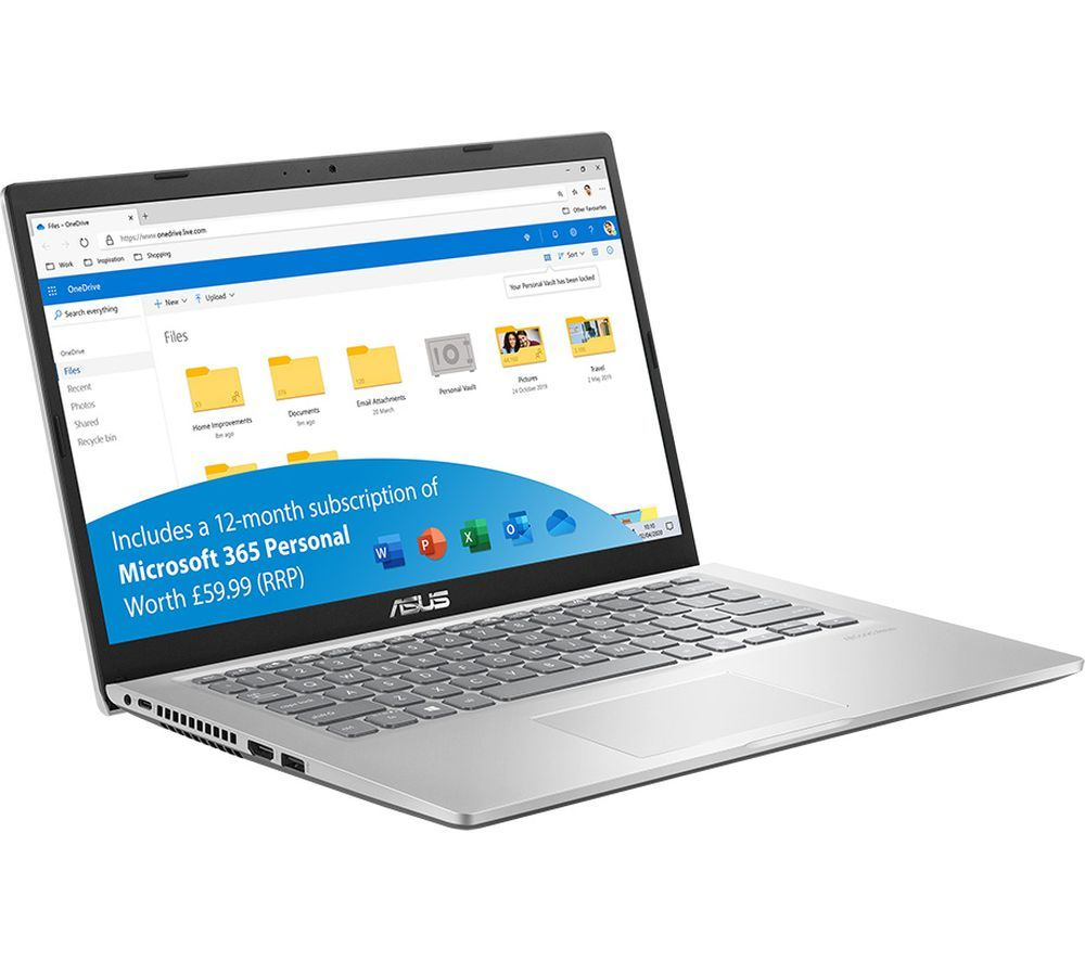 "Image of ASUS VivoBook F415 14"" Laptop - Intel®Core™ i3, 128 GB SSD, Silver, Silver"