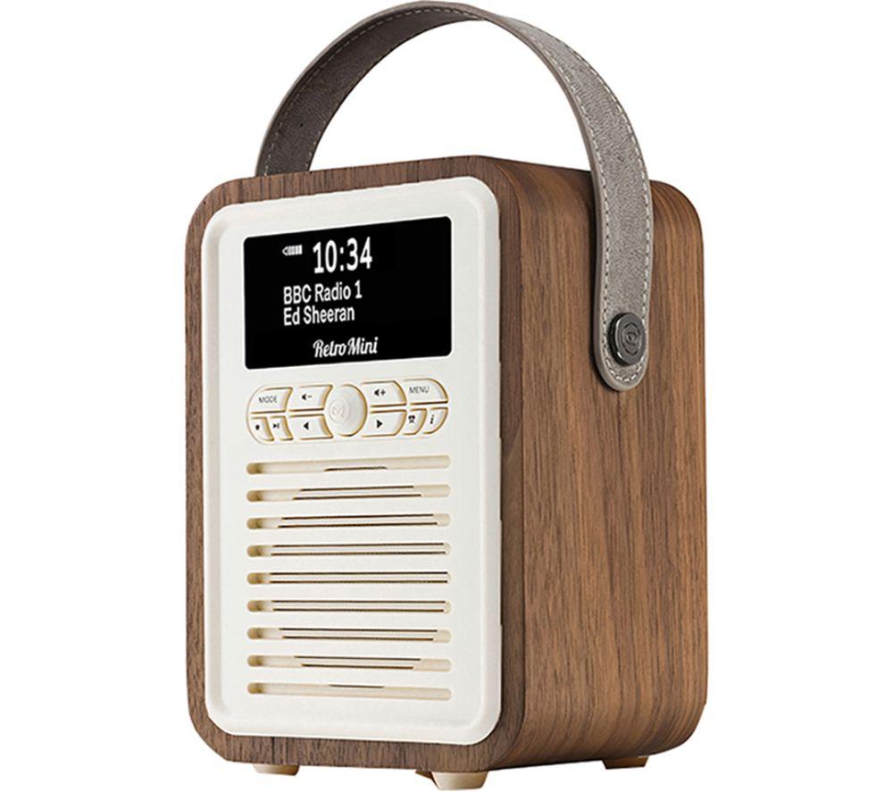 Image of VQ Retro Mini Portable DABﱓ Bluetooth Radio - Walnut