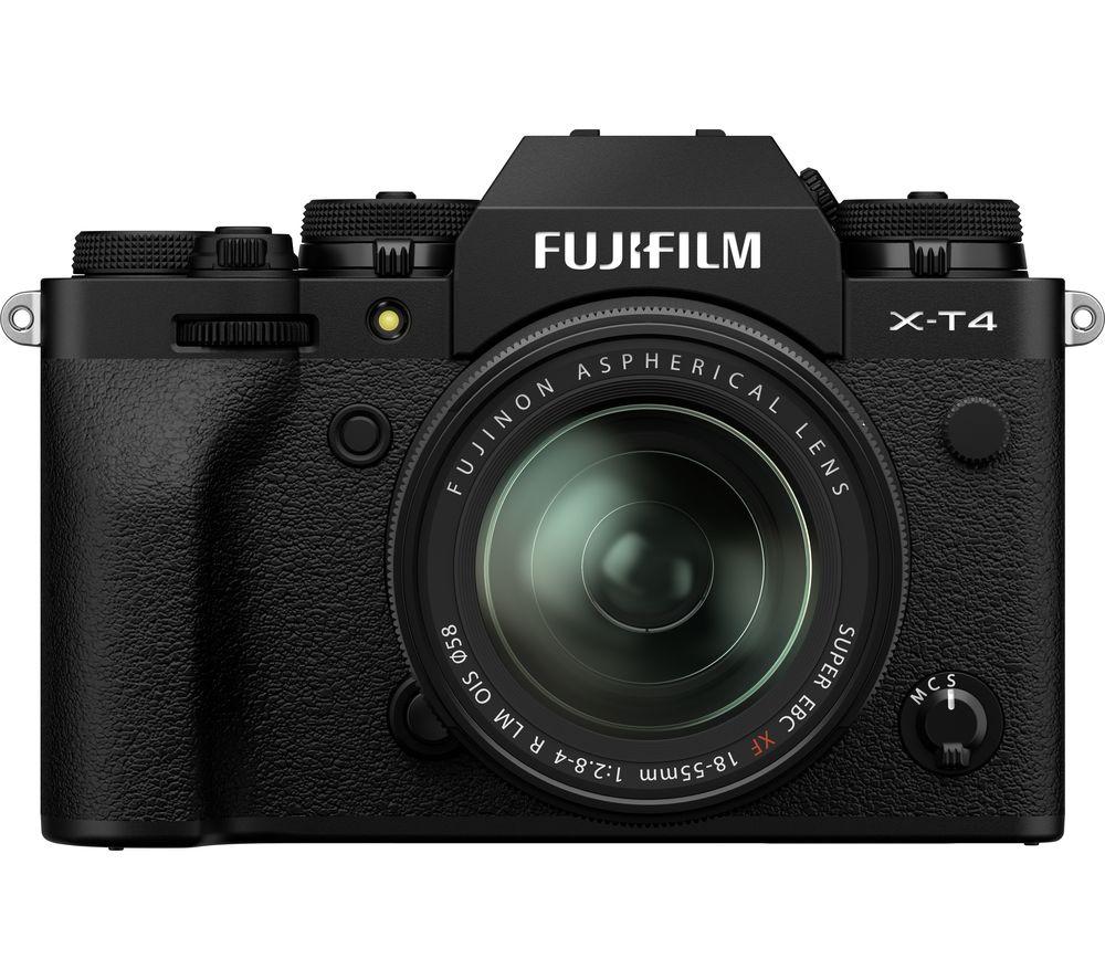 Fujifilm X T4 Mirrorless Camera With Fujinon Xf 18 55 Mm F 28 4 R Lm Ois Lens Black Black