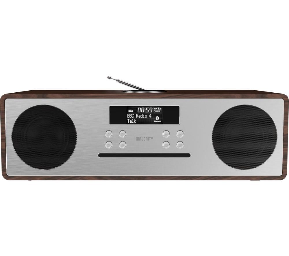 Image of MAJORITY OAK-CDAB-WAL Oakington DABﱓ Smart Bluetooth Radio - Walnut