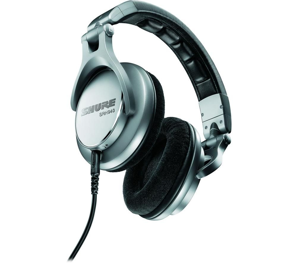 SHURE SRH940 Professional Reference Headphones - Silver