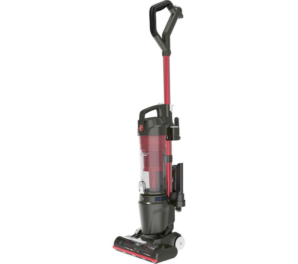 HOOVER Upright 300 HU300RHM Home Bagless Vacuum Cleaner - Red & Grey