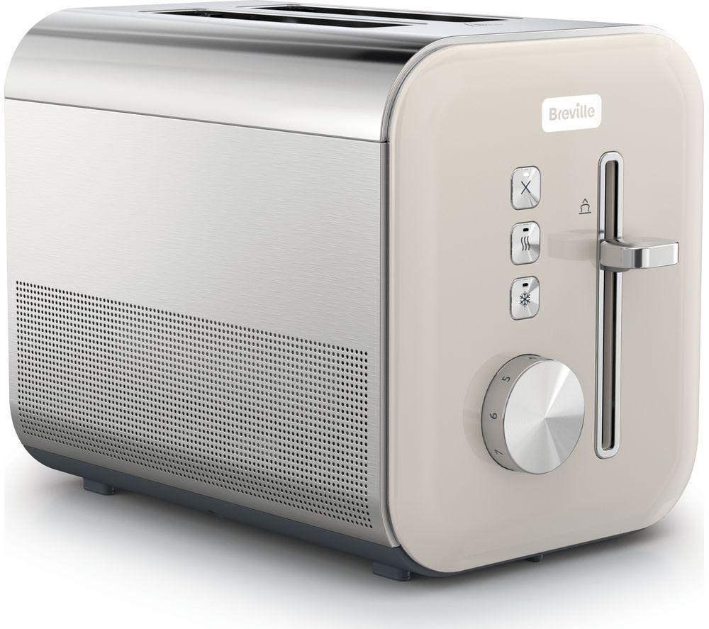 BREVILLE High Gloss VTT967 2-Slice Toaster - Cream