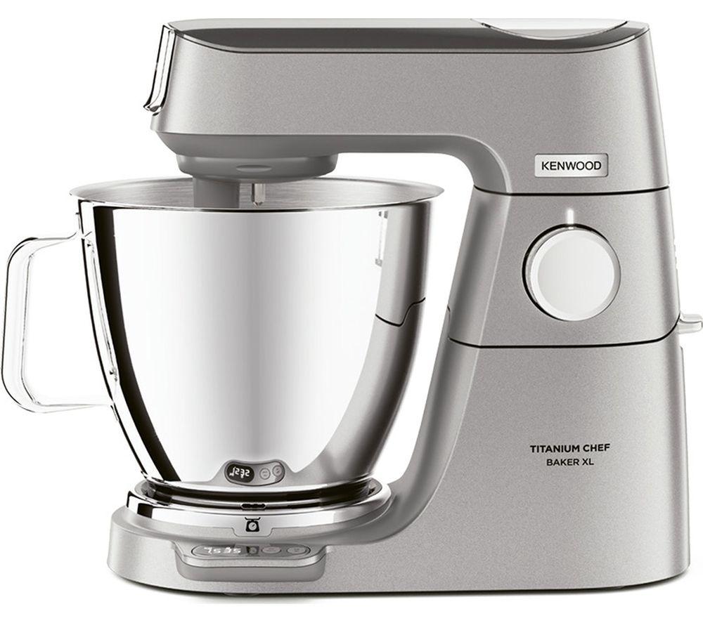 KENWOOD Titanium Chef Baker XL KVL85.004SI Stand Mixer ? Silver, Titanium