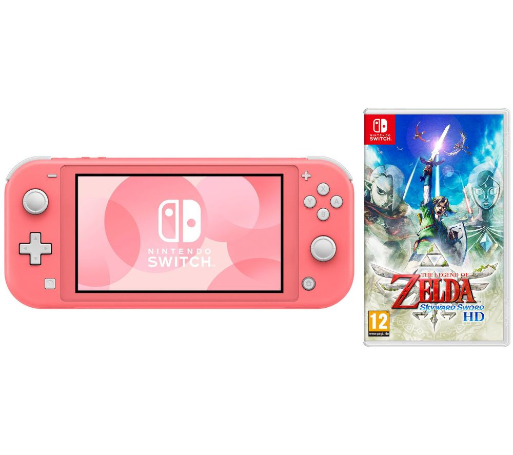 NINTENDO Switch Lite Coral & The Legend of Zelda: Skyward Sword Bundle