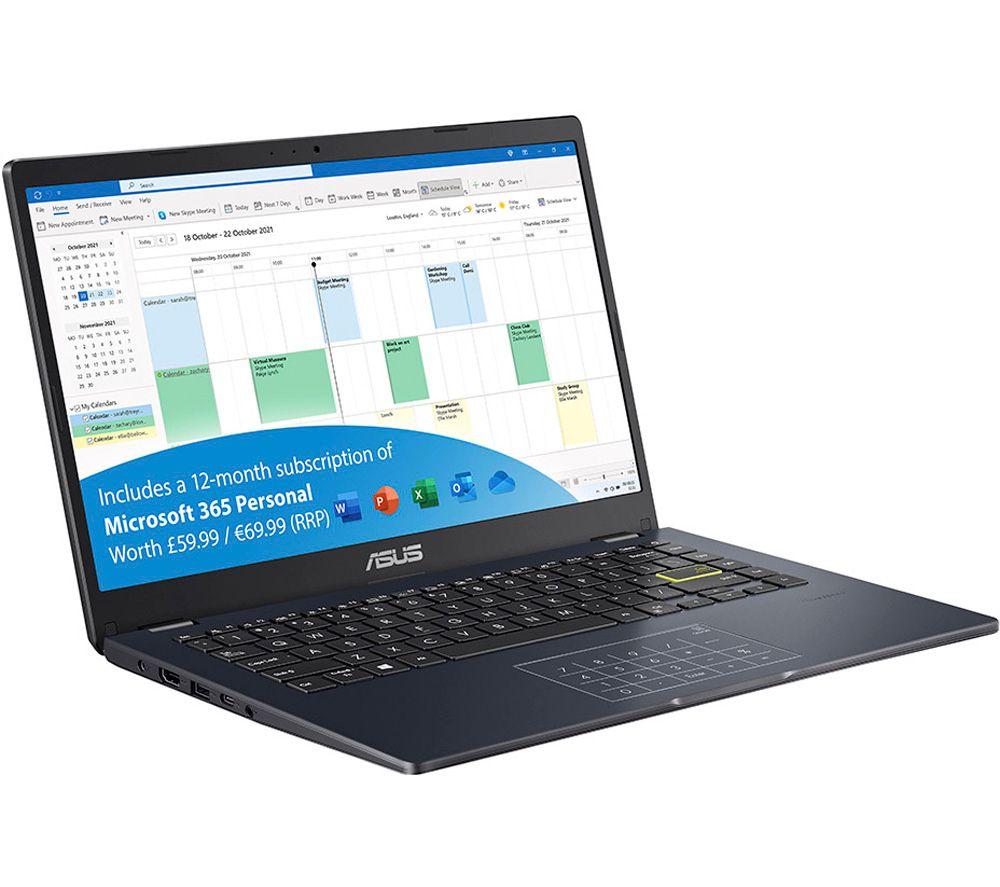 "ASUS E410MA 14"" Laptop - Intel® Celeron®, 64 GB eMMC, Blue"