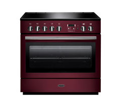 RANGEMASTER Professional+ FX 90 Electric Induction Range Cooker - Cranberry & Chrome Best Price, Cheapest Prices