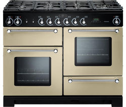 RANGEMASTER Kitchener 110 Dual Fuel Range Cooker - Cream & Chrome
