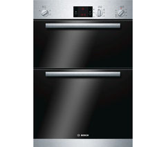 BOSCH HBM13B150B Serie 6 Electric Double Oven - Brushed Steel