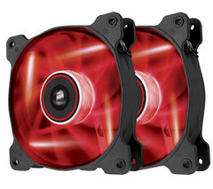 CORSAIR Air Series AF120 CO-9050016-RLED Twin 120 mm Case Fans - Red LED