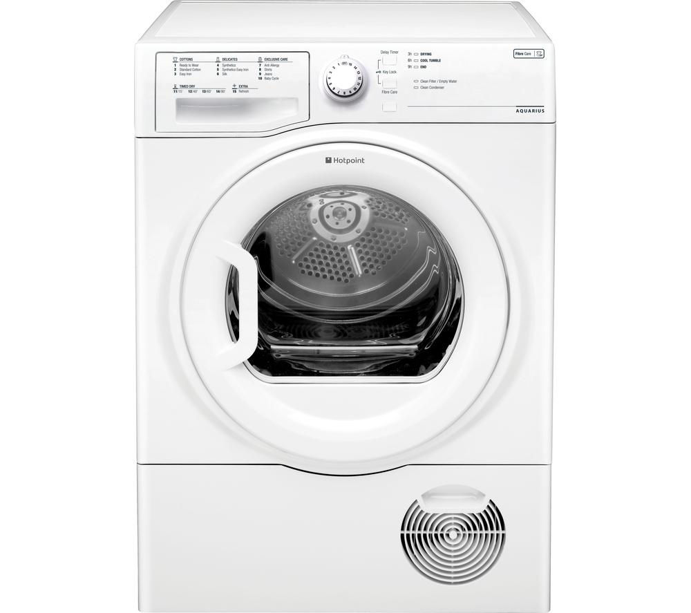 HOTPOINT Aquarius TCFS93BGP Condenser Tumble Dryer - White + WMFUG742P SMART Washing Machine - White