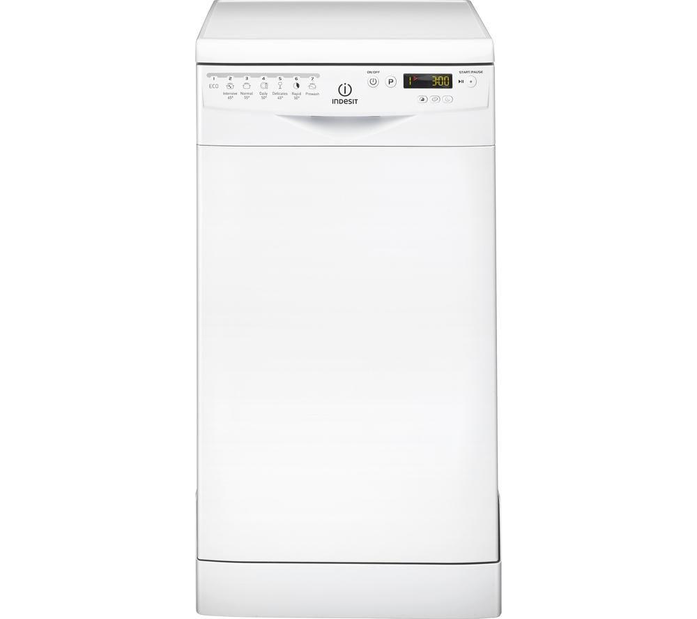 INDESIT Prime DSR57B Slimline Dishwasher - White, White