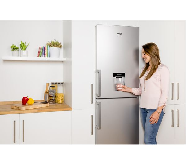 Buy BEKO CFP1691DS 50/50 Fridge Freezer - Matte Silver   Free ...