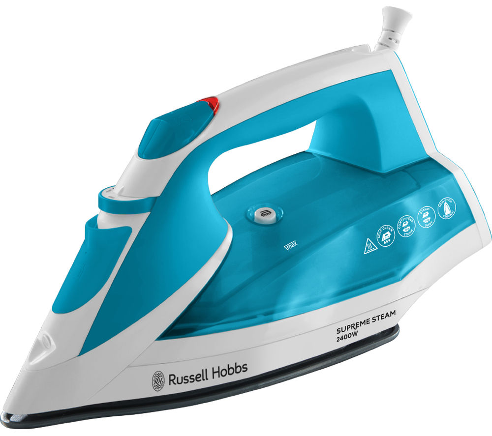 Image of RUSSELL HOBBS Supreme 23040 Steam Iron - White & Blue, White